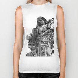 Blessed Virgin Mary Black & White Biker Tank