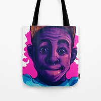 tyler the creator Tote Bags featuring Tyler The Creator II (Pink) by ASHUR Collective™