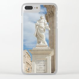 Statue of St. Peter Ortigia Clear iPhone Case