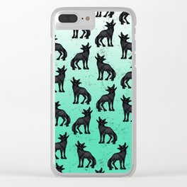Grey Coyote Clear iPhone Case