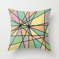 stained glass Throw Pillows featuring Stained Glass by Tammy Kushnir