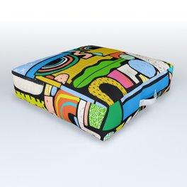 Color Block Collage Outdoor Floor Cushion