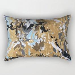 Abstract Music Gold Calypso pattern Rectangular Pillow