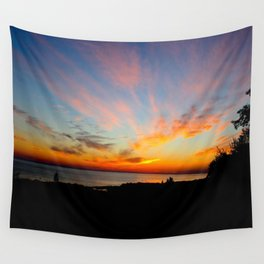 Sunset in Michigan Wall Tapestry