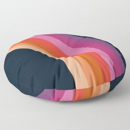 Tubular - retro throwback 70s style rainbow colorful trendy 1970's art decor Floor Pillow