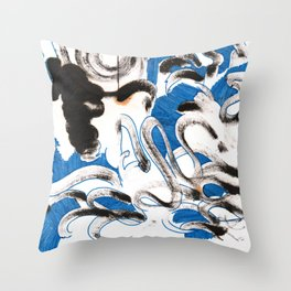 Blue Spot Throw Pillow