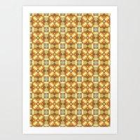 Ethnic Moroccan Motifs Seamless Pattern 6 Art Print
