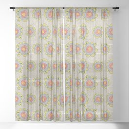 Growing - Pinus 1 - plant cell embroidery Sheer Curtain