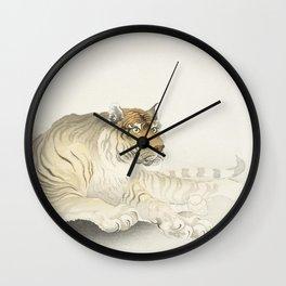 Tiger (1900 - 1930) by Ohara Koson (1877-1945) Wall Clock
