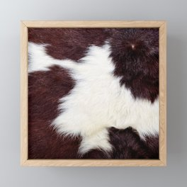 Cowhide Fur Framed Mini Art Print