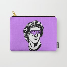Caesar's Disappointment on Purple Background Carry-All Pouch