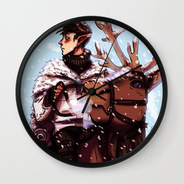 Winter ride Wall Clock