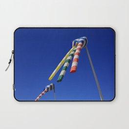 Colorful Flying Wind Flags in Knokke Laptop Sleeve
