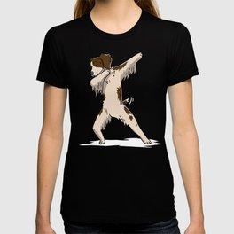 Funny Dabbing Brittany Spaniel Dog Dab Dance T-shirt