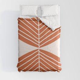 Minimal Fall Leaf Dark Orange Comforters