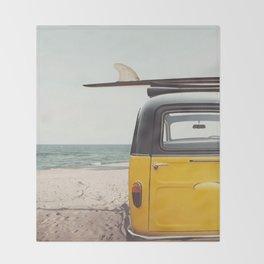 Summer surfing Throw Blanket