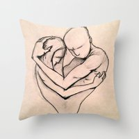 return Throw Pillows featuring The Return by Kasey Randall