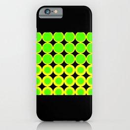 Lime Green Mod Reggae iPhone Case