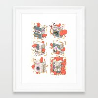 cigarettes Framed Art Prints featuring Cigarettes Deluxe by Kensausage