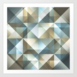 Gradient Diamonds Art Print