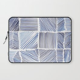 Lines of Blue Laptop Sleeve