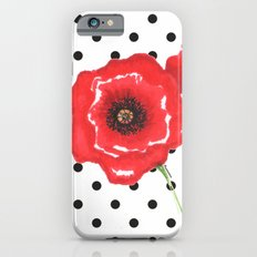 Poppies and polka dots iPhone 6s Slim Case