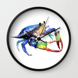 Crab, Sea World Rainbow Colors Beach Wall Clock