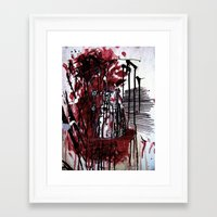 dalek Framed Art Prints featuring Dalek by The Fish Crow