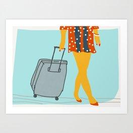 Travel light Art Print