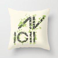 deadmau5 Throw Pillows featuring Grunge Avacii  by Sitchko Igor