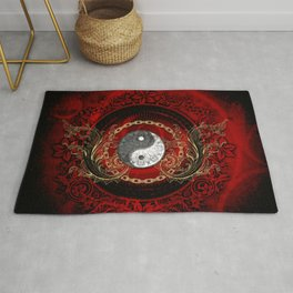 The sign ying and yang Rug