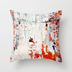 SCRAPED Throw Pillow