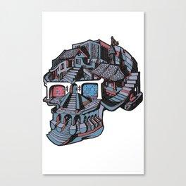 3d Glasses Skull Canvas Print