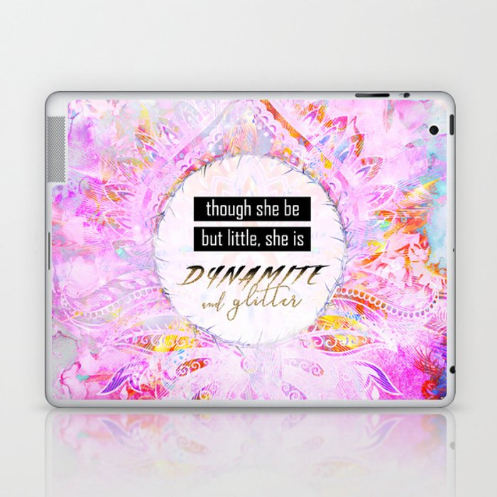 91480e81a12c4 Watercolor Pastel Boho Dynamite and Glitter Laptop & iPad Skin by  lauragordon