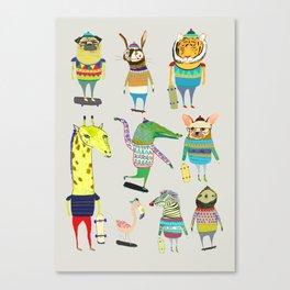 skateboarders, skaters, skateboard, Canvas Print