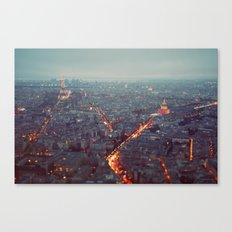 Blue Hour in Paris. Canvas Print