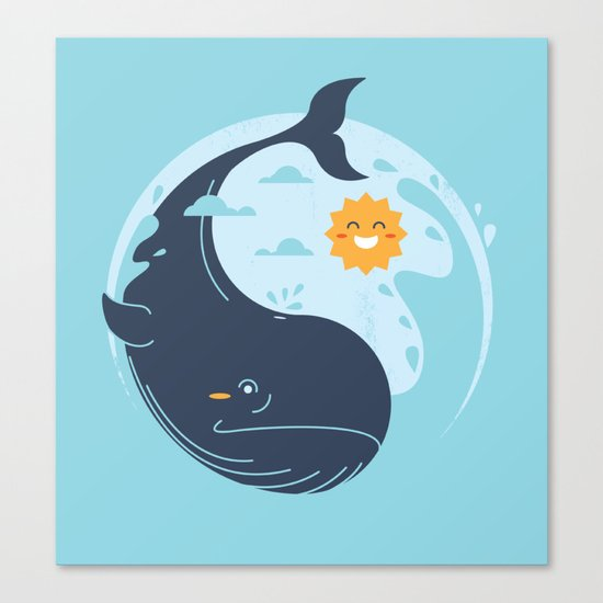 the great whale Canvas Print