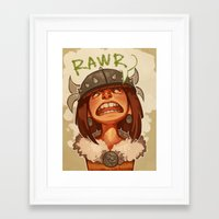 viking Framed Art Prints featuring Viking by DustyLeaves