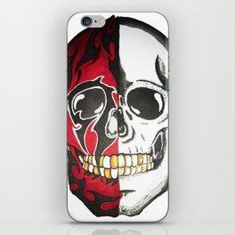 twofaced skull iPhone Skin