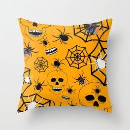 Skull Halloween Throw Pillow