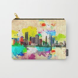 Miami Skyline Grunge Carry-All Pouch