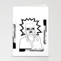 kurt rahn Stationery Cards featuring Saint Kurt by Oyl Miller