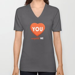 You Complete Me - Puzzle Heart Unisex V-Neck
