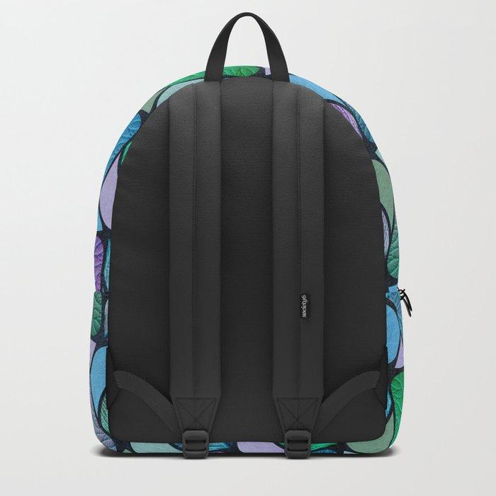 Leaf Chevron Pattern Backpack