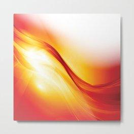 Contemporary Sunlight Streamer Metal Print