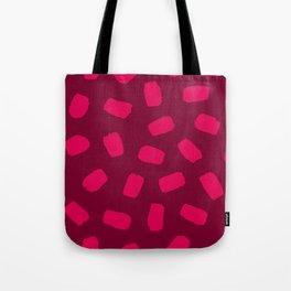 Raspberry Brushstrokes Tote Bag