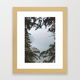 Between Two Firs Framed Art Print