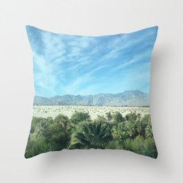 Palm Desert Mountains California Throw Pillow