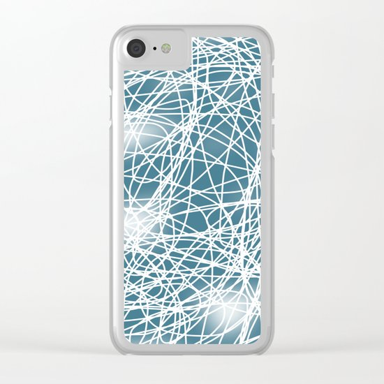 Abstract 360 Clear iPhone Case