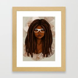 White Glasses Framed Art Print